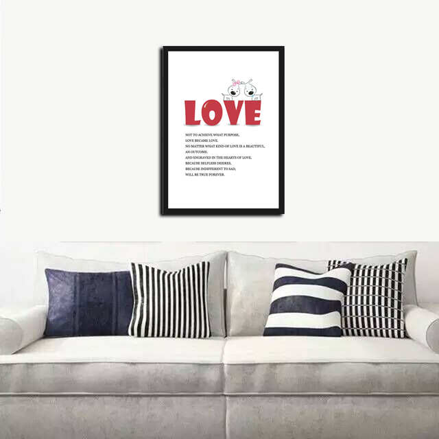 Nordic I Love You To Moon And Back Star Canvas Painting A4 Art Print Poster Oil Painting Wall Picture For Living Room Home Decor