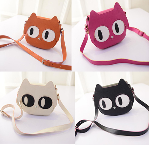 Fashion PU Leather Bag Cute Fox Cross Body Bag Retro Satchel Shoulder Bags Women Messenger Bags Cartoon Lovely Leather Handbag(China (Mainland))