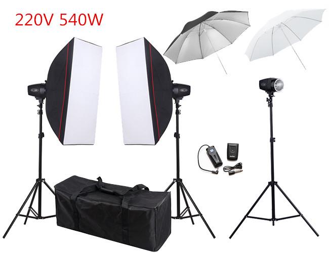 Free Shipping 540ws 220V Photo Studio Mini Flash Monolight Lighting Kit PSK180G2<br><br>Aliexpress