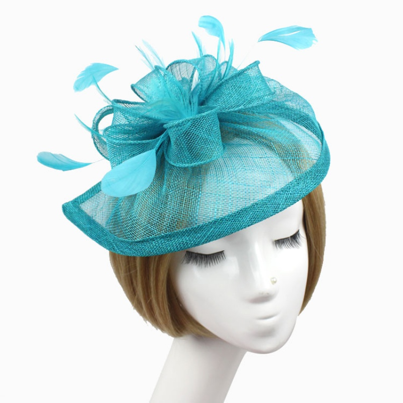 Stylish Feather Headband Fascinator Hats Ball Victorian Style Halloween Cap(China (Mainland))