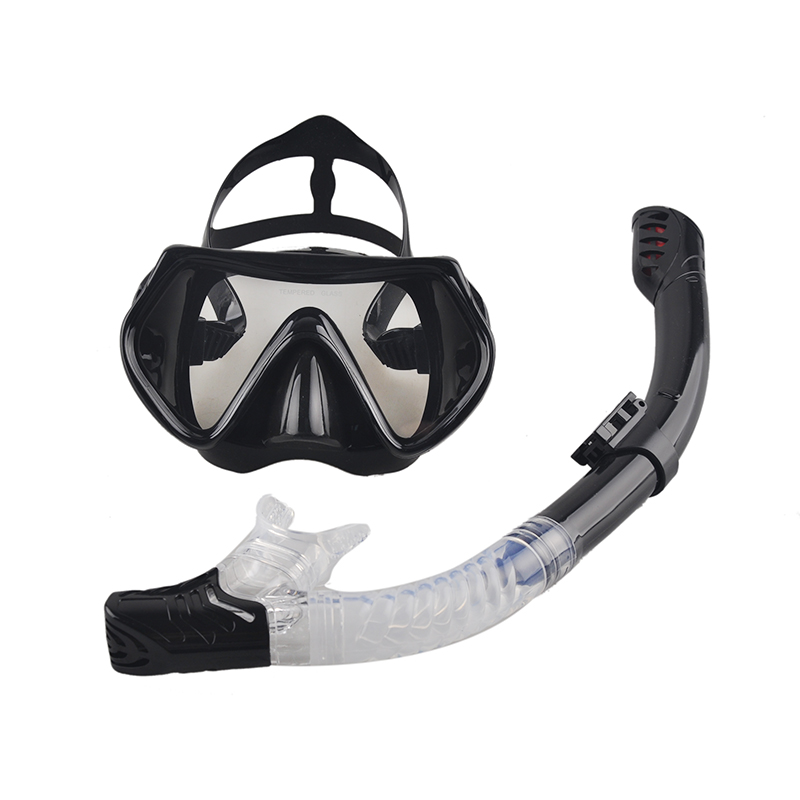 2016 New Professional Scuba Diving Mask Snorkel Anti-Fog Goggles Glasses Set Silicone Swimming Fishing Pool Equipment 6 Color(China (Mainland))