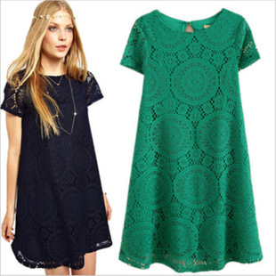 S-4XL 5 Colors Spring Summer Autumn Clothes For Pregnant Women Pregnant Clothing Casual Knitted Lace Maternity Dresses Q953038(China (Mainland))