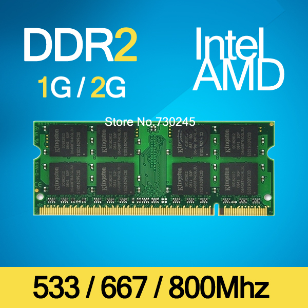 Brand Sealed DDR2 533Mhz / 667Mhz / 800Mhz 1GB / 2GB SODIMM 200-pin Memory Ram memoria ram For Laptop Notebook Lifetime Warranty(China (Mainland))