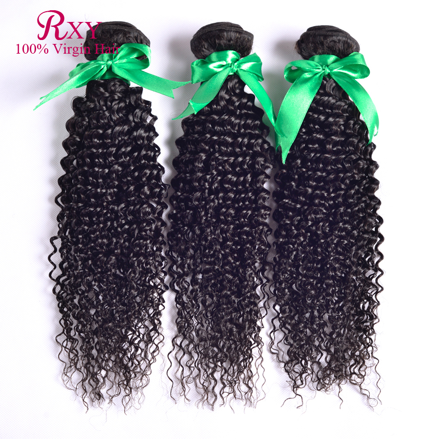 RXY hair products brazilian kinky curly human hair weave brazilian curly hair 3 pcs lot mixed length free shipping<br><br>Aliexpress