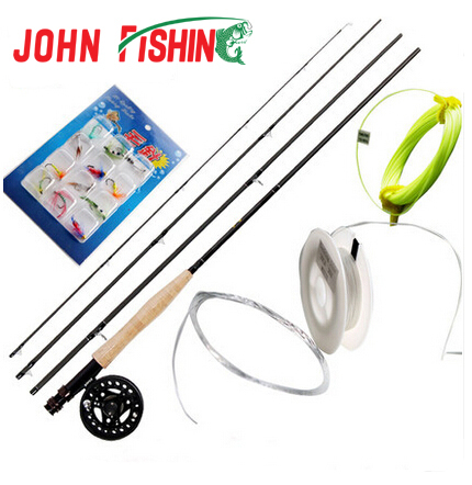 Fly Fishing Combo 5/6# 2.7m Carbon Hard Fly Fishing Rod Suit Lure Super Light Fly Fishing Tackle(China (Mainland))
