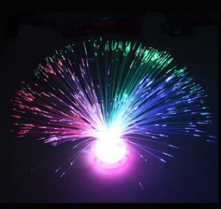 1pcs Colorful flash flower over the sky star a night light Color Changing LED Fiber Optic Nightlight Lamp small night light(China (Mainland))