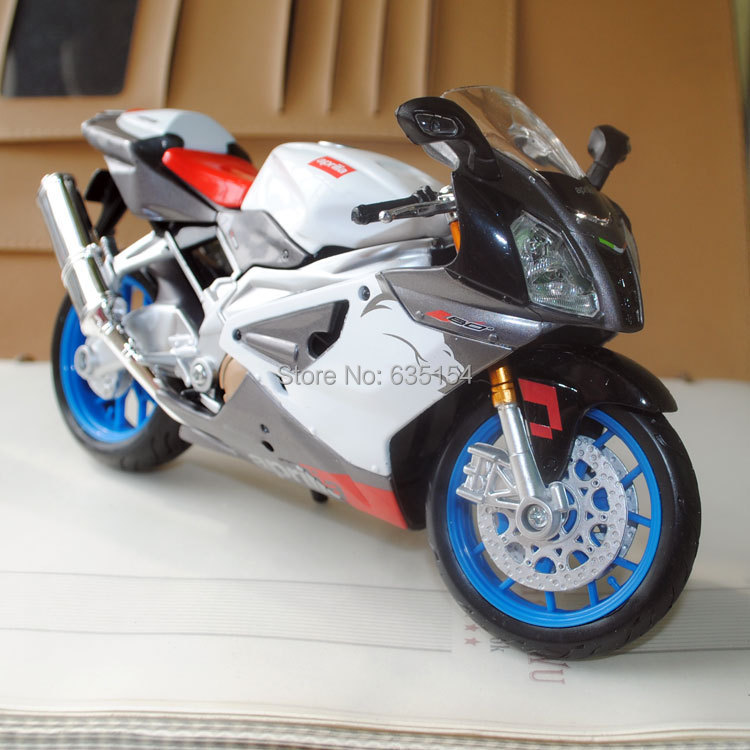 6pcs/pack Free Shipping Wholesale 1/12 Scale Diecast Motorcycle Model Toys Apprilia Rsv 1000 R Motorbike Metal Model Toy<br><br>Aliexpress