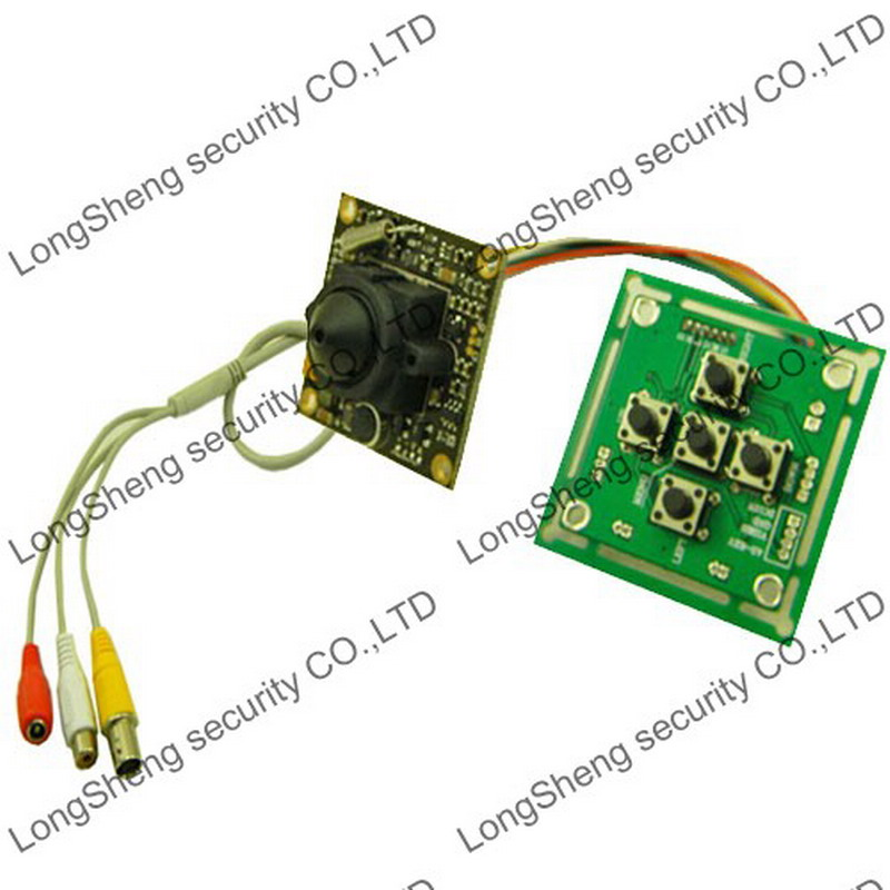 Mini HD 700TVL SONY Color CCD Board A/V OSD PCB 2.5mm Pinhole CCTV Camera MIC(China (Mainland))