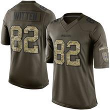 Men's #82 Jason Witten Elite Green Salute to Service Jersey 100% stitched(China (Mainland))