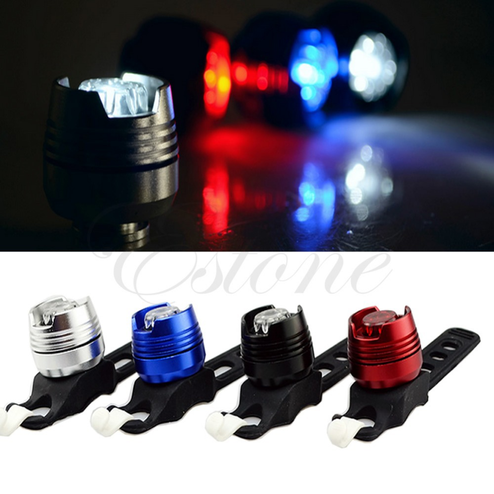 A96 Free Shipping 1pc Bike Bicycle Cycling Front Rear Tail Helmet Flash Light Safety Warning Lamp(China (Mainland))