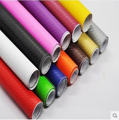 152cmX30cm 3D carbon fiber vinyl film/ carbon fibre sticker (78.7X19.7)--10 color option FREESHIPPING car sticker 3D carbon wrap(China (Mainland))