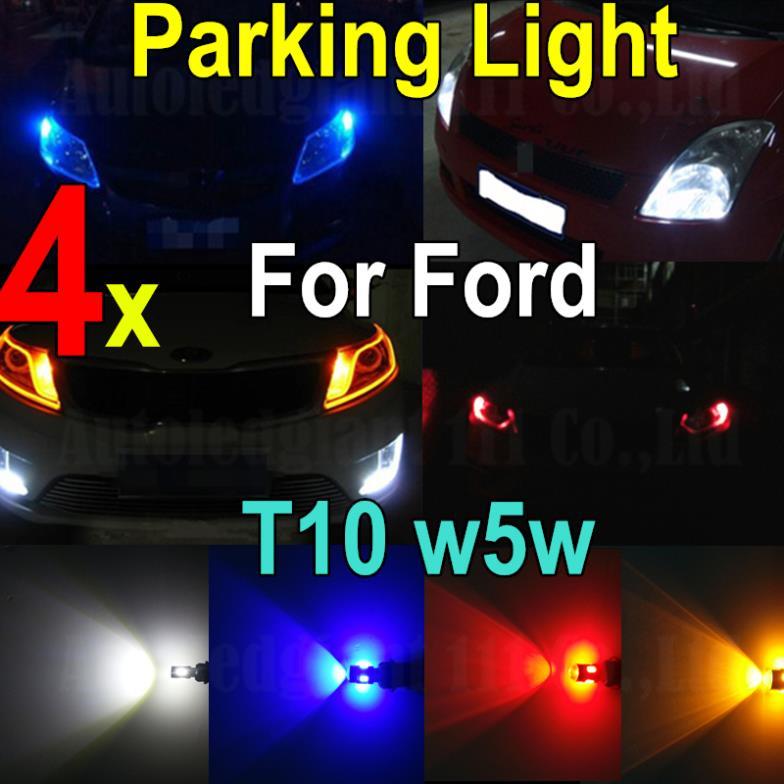 Led T10 W5W LED 4x Car 12V 6SMD High Power 5730 SMD Parking Light For Ford Focus Festiva Fusion Festiva Taurus Ranger 4 Colors(China (Mainland))