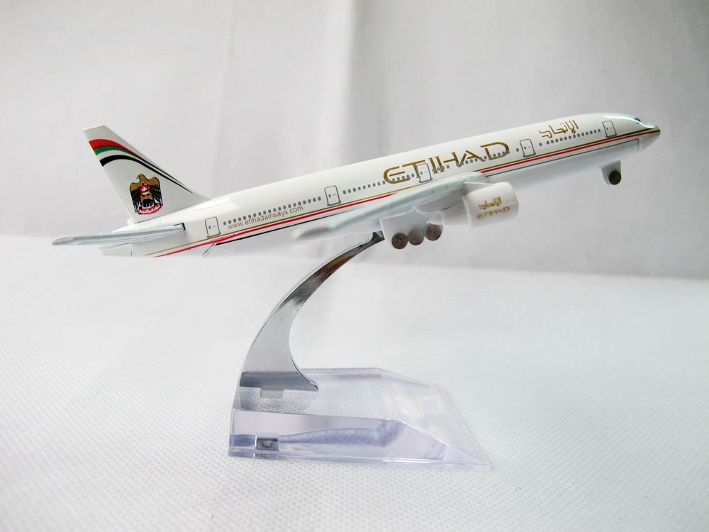 1:400 Etihad Airways National Airline United Arab Emirates Airlines Air Plane Model - Shenzhen Technology Co..Ltd store