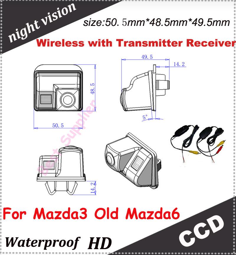 wireless car rear camera for Mazda 3 Old Mazda6 Backup parking Camera CCD 100% waterproof(China (Mainland))