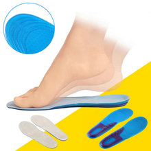 New Silicone Sports Massaging Silicone Gel Breathable Insoles Arch Support Orthopedic Plantar Fasciitis Running Insole For shoes(China (Mainland))