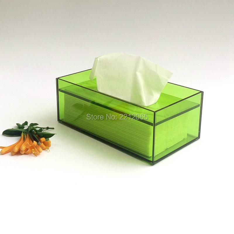 Bathroom Facial Acrylic Tissue Box, Tissue Holder, Tissue Dispenser for Sheet Napkin or Tissue(China (Mainland))