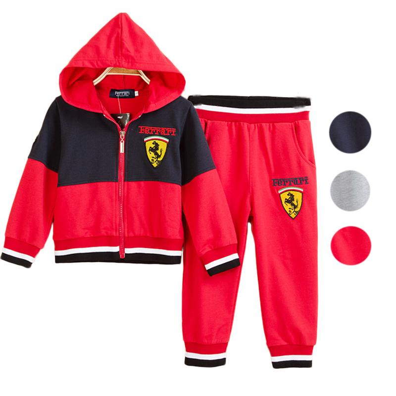 2015 Brand Boys Sport Clothing Sets Hooded Sweater Hoodies+Casual Pants Kids Children Outfits Autumn-Spring Tracksuit(China (Mainland))