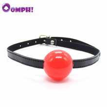 Buy BDSM Adult Products Mouth Ball Gag women men Leather Mouth Gag slave Oral Fixation Stuffed Adult Games Flirting SM Sex Toys for $2.03 in AliExpress store