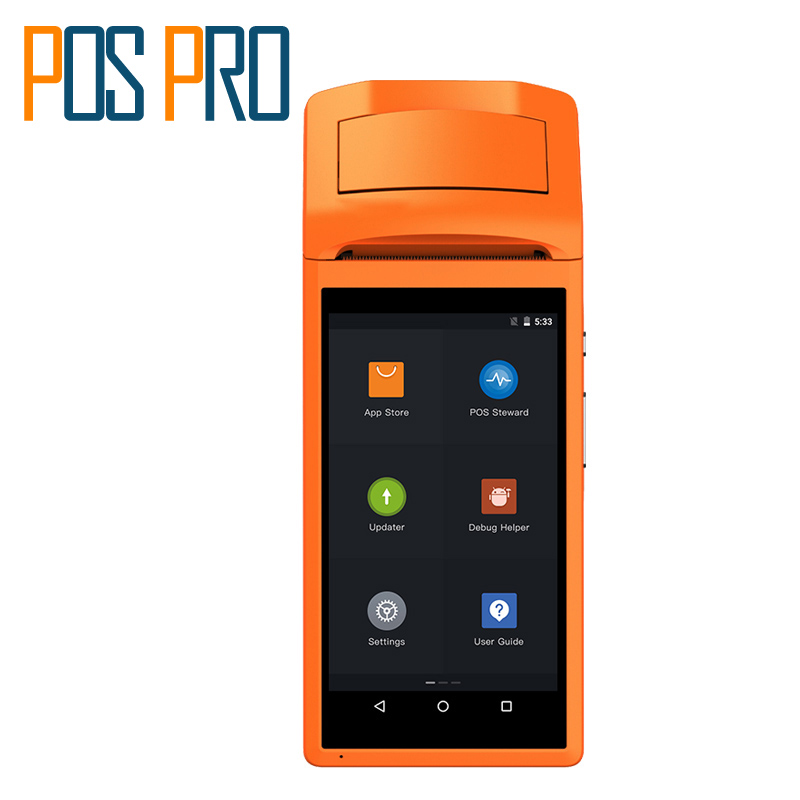 IPDA020 Android5.1 mobile 1D barcode scanner thermal printer Handheld Pos terminal bluetooth wifi Android Rugged PDA 3G Sunmi V1(China (Mainland))
