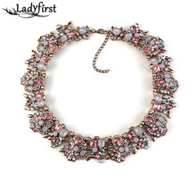 2016 New Color z Women Big Brand l Gem Necklace & Pendants Vintage Luxury Maxi Statement Necklace Collier 2345(China (Mainland))