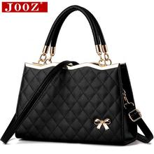 Buy JOOZ High Bow women leather handbag Brand party evening Crossbody Bag soft leather lattice totes Shoulder bag women sac for $18.99 in AliExpress store