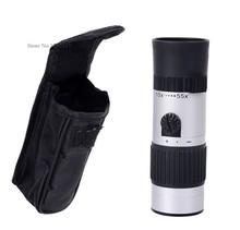 New 15x 55x Binoculars Mini Telescope Adjustable Monocular Zoom Pocket Scope Sports Outdoors Night Vision Hunting