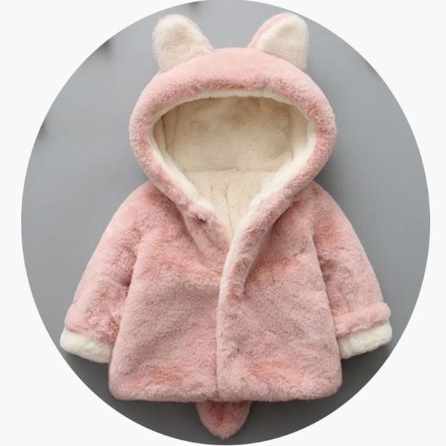 2016 Осень зима девочка пальто мода милый ребенок мягкий флис плащ Малышей одежда для девочек верхняя одежда детская одежда 0-2года