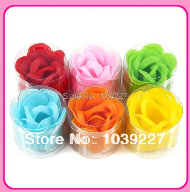 Free shipping 50 boxes / lot 1 piece in one box nice smell magic paper soap flower(China (Mainland))