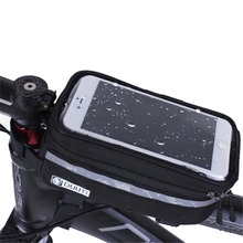 Waterproof/Reflective Bicycle Cycling Bike Bag Bicycle Accessories Phone Case Touchable PVC Screen Cell Phone Bag 4.8-5.7inch(China (Mainland))
