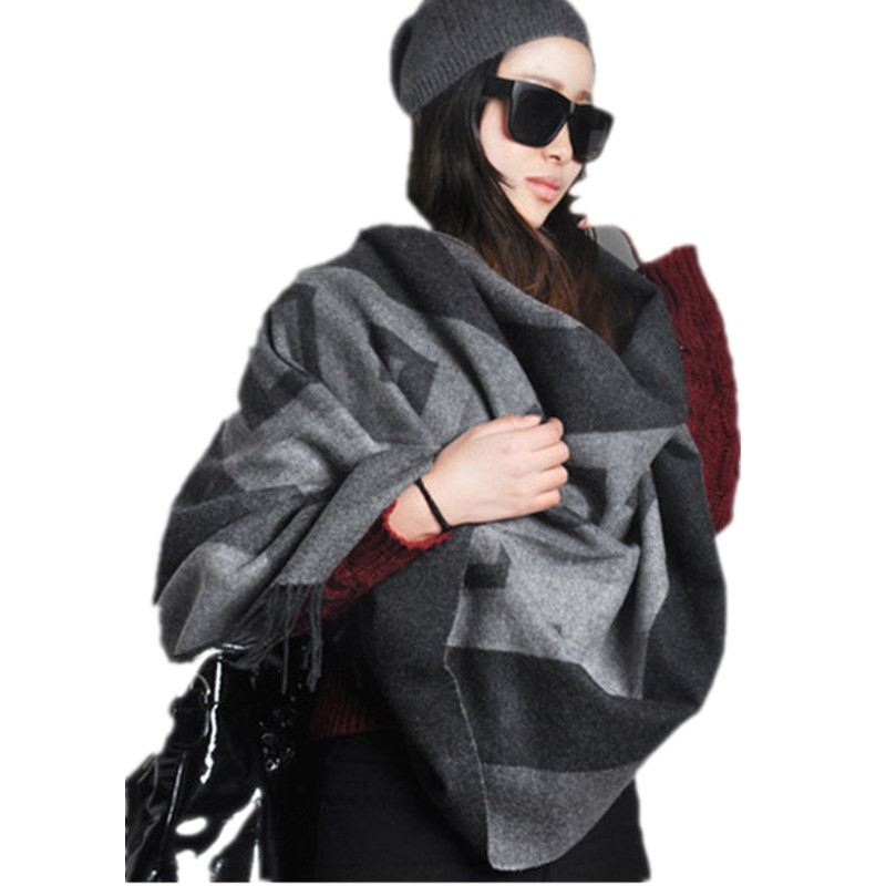 LING/100% Cashmere New Winter Thickened Cashmere Shawl,75*200cm Warm Lady Plaid Scarves,Wooenl Cashmere Scarf Tassel Plaid w001(China (Mainland))