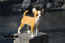 small simulation Chihuahua dog toy cute chihuahua model,fur& polyethylene doll about 17x6x16cm