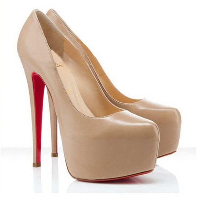 Aliexpress.com : Buy Fashion Red Bottom High Heels Nude Color