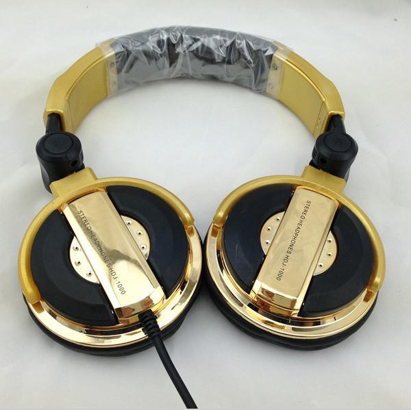 New arrival Pure Gold headphone DJ headsets on ear headband headphone(China (Mainland))