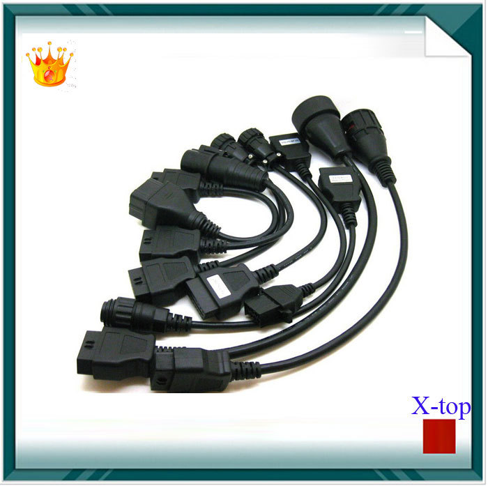 Truck Cables CDP Pro OBD2 OBDII Trucks Diagnostic tool connect cable 8 PCS Trucks Cables For autocom CDP Plus For DELPHI DS150E(China (Mainland))