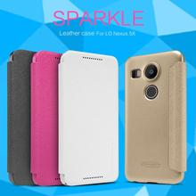 For LG Nexus 5x /Google nexus 8 leather case, NILLKIN Sparkle Flip Cover Case Leather Case house For LG Nexus 5x Smart Wake/Up(China (Mainland))