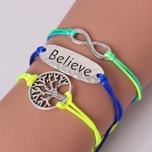 1pcs New Fashion Heart Mouse Life Tree love Charm Bracelets & Bangles Silver Bracelet(Random Color)(China (Mainland))