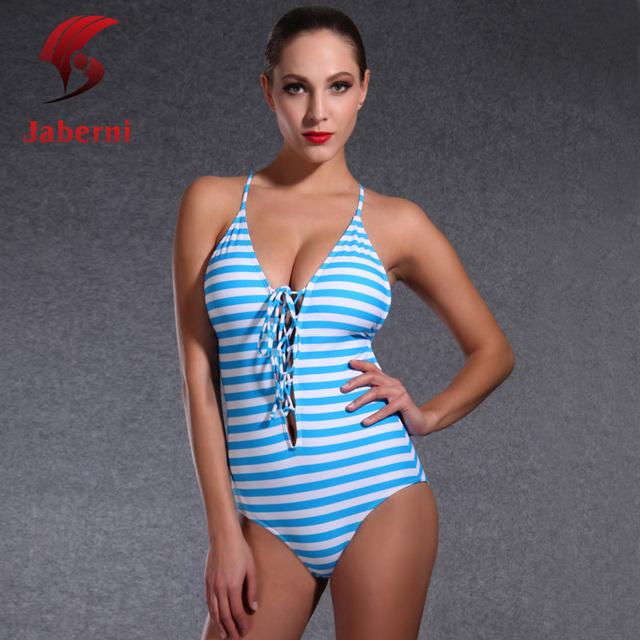 Леди боди глубокий высоким вырезом купальник элегантный спорт женский купальники недоуздок-образным повязку монокини бразилия пляж купальный костюм