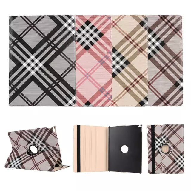 For Apple iPad Pro 12 9 Tablet Cases High quality Lattice Grain Smart Flip PU Leather