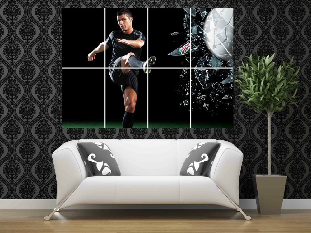 AT14 Cristiano Ronaldo 46 x 32 inches large giant football sport poster print home decor photo picture wall art(China (Mainland))