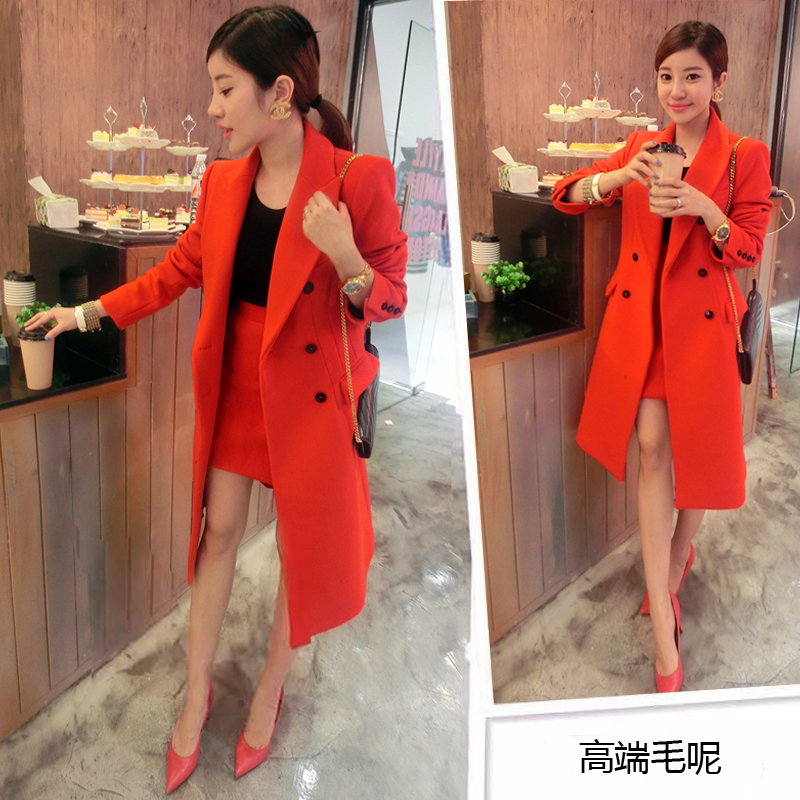 2014 autumn and winter wool coat Slim woolen jacket double-breasted long coat Nizi Korean female models shippingОдежда и ак�е��уары<br><br><br>Aliexpress