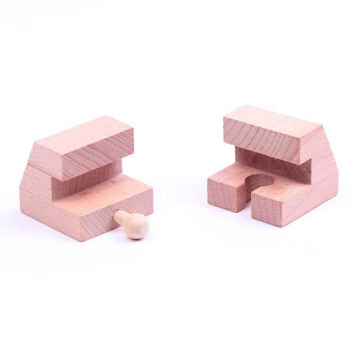 2pcs/lot High quality beech wood Tomas and Friends train toys railway stop Track slot(China (Mainland))