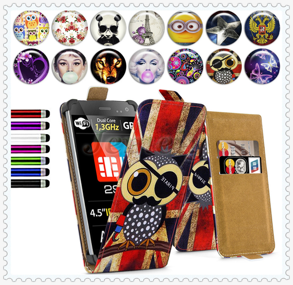 Wholesale Price ! Explay Golf 4.5inch Printed Universal Phone Case, Flip Leather Skin Cover Stand Case For Explay golf 4.5''(China (Mainland))