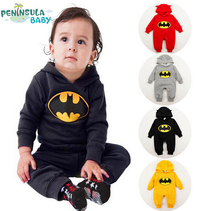 PPY-58,Free Shipping Hot Sale Designer Autumn Winter New Cotton Girls Boys Rompers Baby Batman Cute Rompers Infant Jumpsuits(China (Mainland))