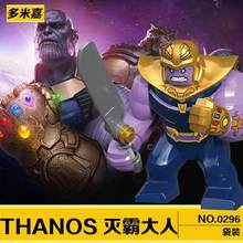 Legoings Single Sale Figures Super Heroes Iron Monger Whiplash Avengers Thanos Iron Man Hulk Buster Action Figure For Kids Gifts(China)