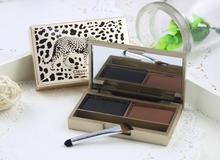 Brand Eyebrow enhancer professional eye brow makeup 2 color waterproof eyebrow powder eye shadow eyebrow make