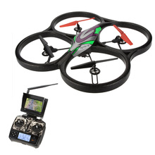 Professional WLtoys V666 5.8G FPV 6 Axis 4CH RC Big Quadcopter UFO Drone With 2.0MP HD Camera and Monitor RTF hexacopter