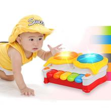 Music toy drum light-up pat baby hand drum violin baby electronic organ(China (Mainland))
