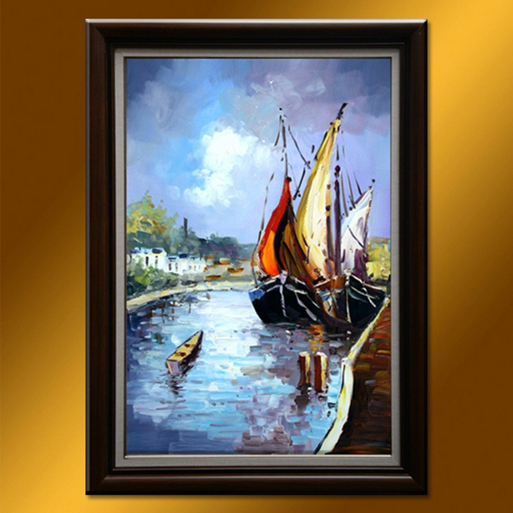 Modern art100 hand painted wall art oil paintings for Art painting for home decoration