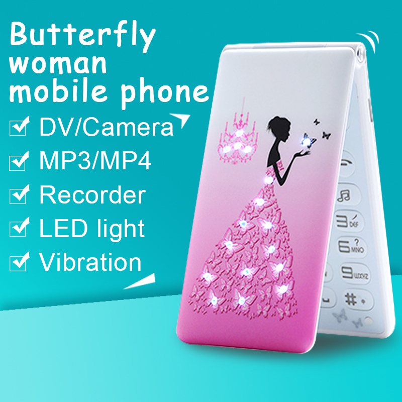 MAFAM D11 Russian Arabic French,Spanish Portuguese Dual SIM mp3 mp4 breath light flower women girls lady cute mobile phone P045(China (Mainland))