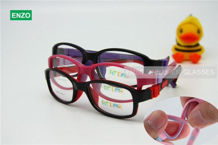 Boys Girls Glasses Size 50/17 No Screw Flexible, Silicone Bendable Teen Student Optical Glasses, Children Kid's Eyeglasses Frame(China (Mainland))